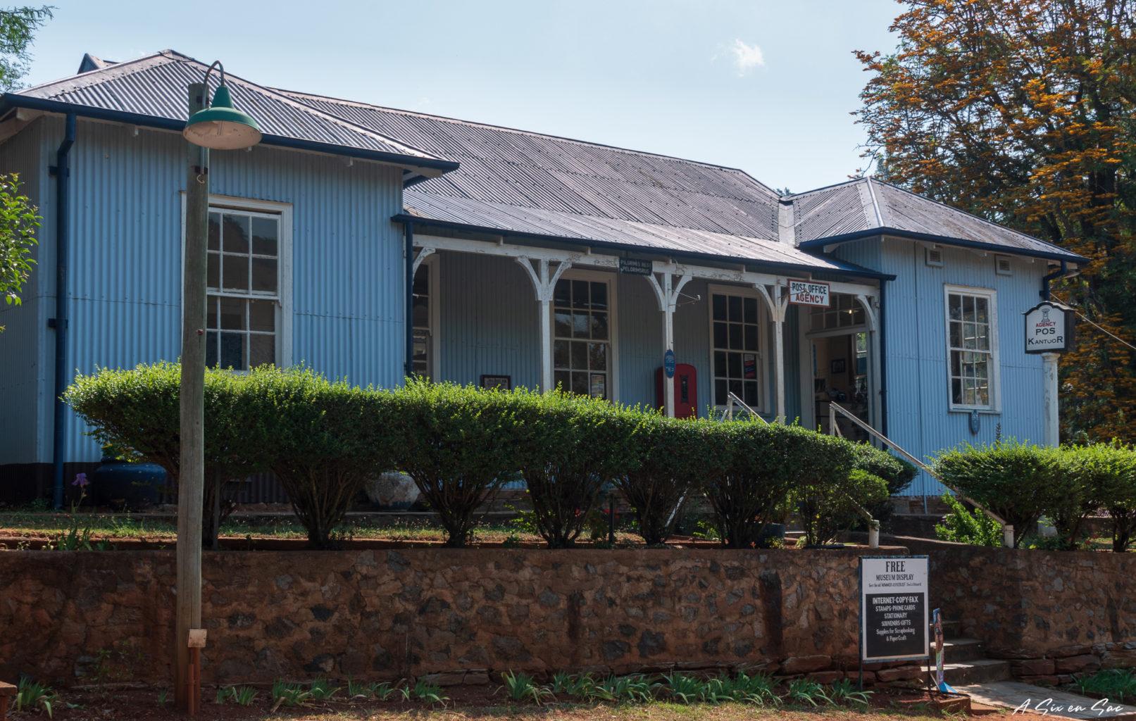 façade de maison de la ville de Pilgrim's Rest dans la province du Mpumalanga aux portes du parc Kruger ( et son emblématique Blyde River Canyon )