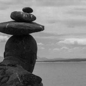 statue du bord de plage d'Hermanus Afrique du sud