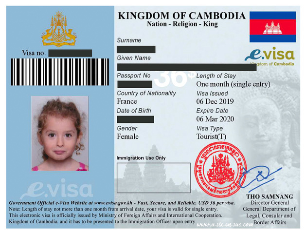 eVisa Alice Cambodge