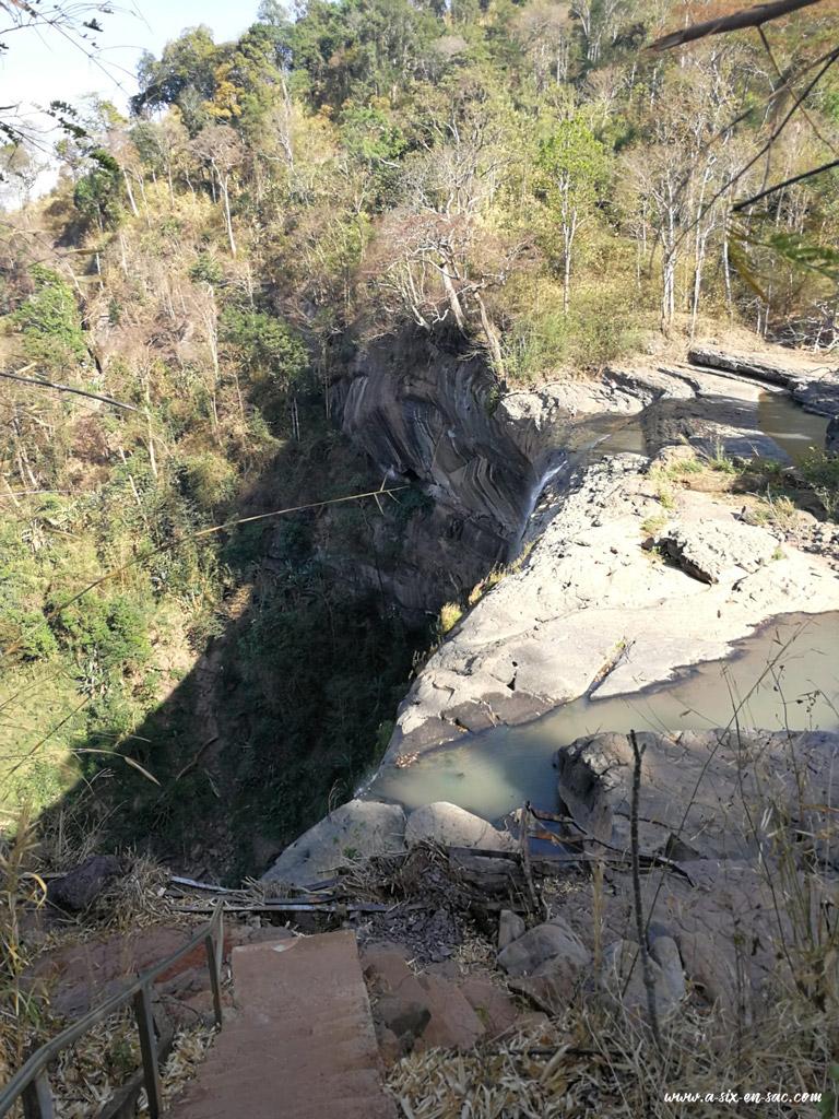 cascade de Tad Soung vue de haut