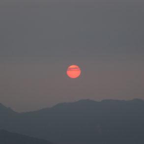 coucher du soleil depuis Phadeng Peak Trek nord Laos Nong Khiaw