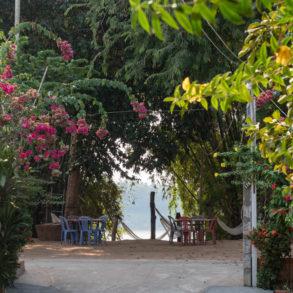 vue sur le Mékong depuis le Koh Trong café