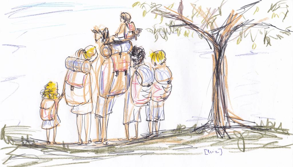 Voyage Backpack en famille