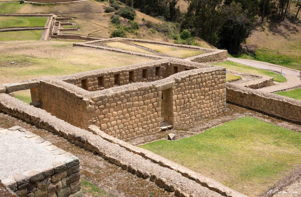 Batiment inca bien conservé sur le site archéologique d 'Ingapirca proche à proximité de Cuenca en Equateur