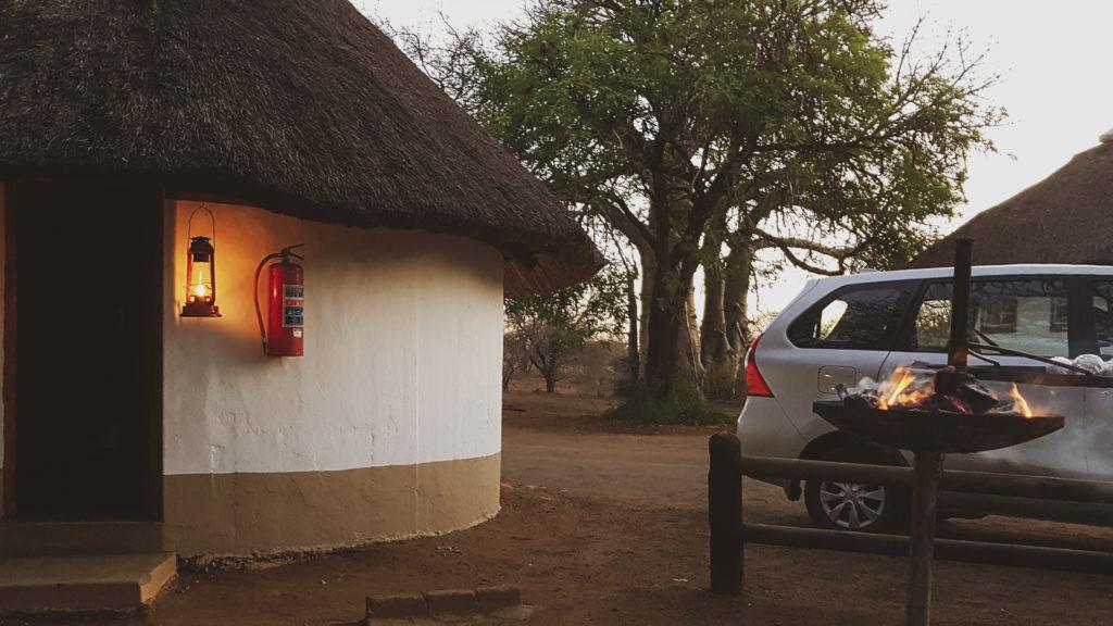 camp satellite de Balule ( proche Olifants ) au centre du parc Kruger lors de notre safari