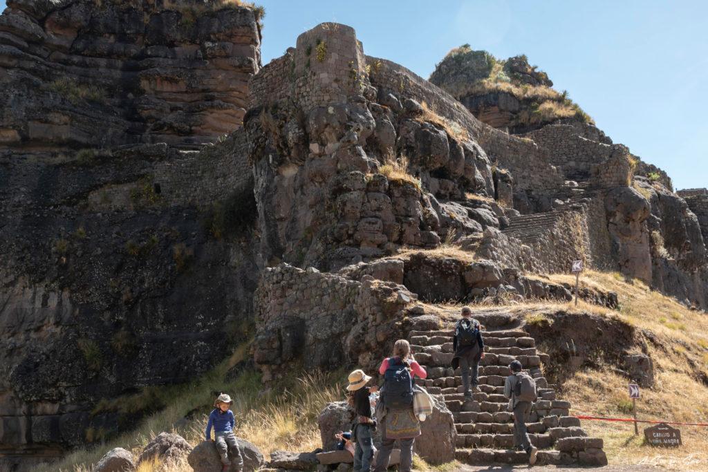enfin nous avons accès à la forteresse Inca de Waqrapukara