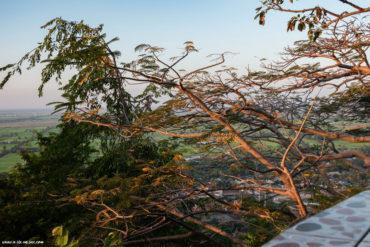 vue sur la campagne du haut du Phnom Sampov