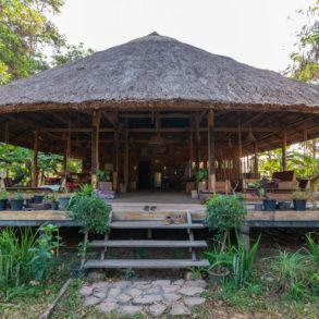 zone de restauration sur Fandee Island-Bolovens-Laos
