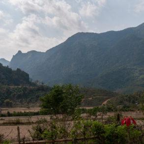 Vue depuis le restaurant de Ban Na , Trek nord Laos Nong Khiaw