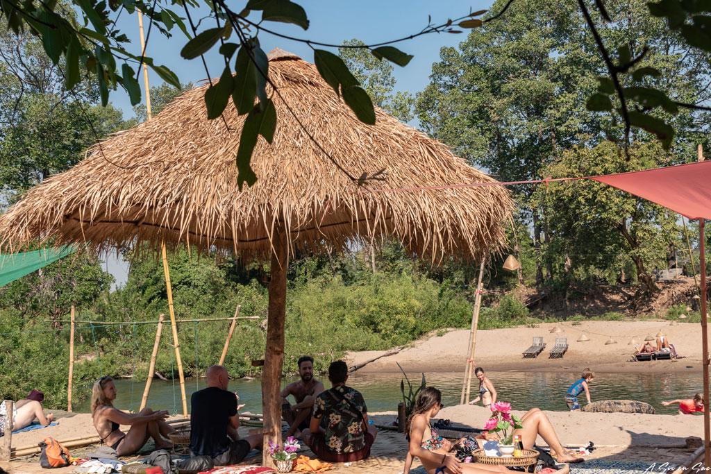 Paillotte de Mad Monkey - Laos Si Phan Don