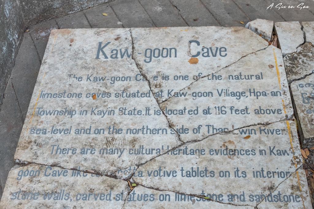 plaque brisée de la Kaw Goon Cave - Hpa An myanmar