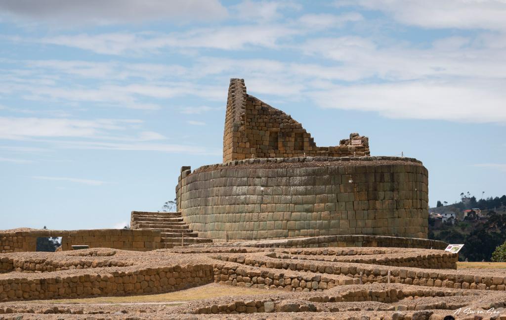 Temple du Soleil sur le site d' Ingapirca - Cuenca en Equateur